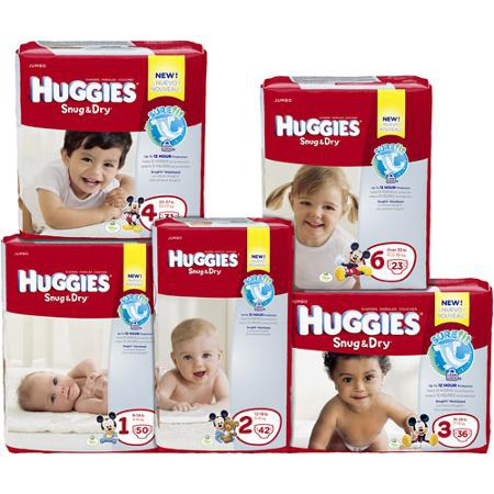 Huggies Snug & Dry Baby Diaper  Tab Closure Size 2 Disposable Heavy Absorbency Case of 152