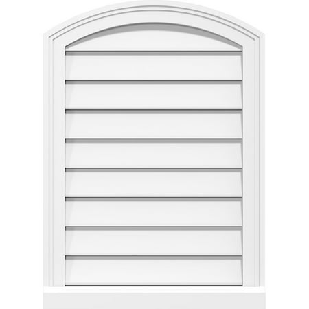 26 W x 40 H Arch Top Surface Mount PVC Gable Vent Functional w 2 W x
