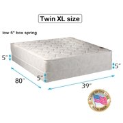 """Legacy Twin XL size (39""""x80""""x8"""") Mattress and Low Profile Box Spring Set - Fully Assembled, Good for your back, Superior Quality - One Sided - None Flip - By Dream Solutions USA"""