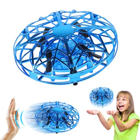 Amerteer Mini Drone for Kids Adults, Flying Ball Hand Controlled Quadcopter Light Up Flying Toys, UFO Flying Ball Drone Toys with 360°Rotating Helicopter Outdoor Toys Holiday Birthday