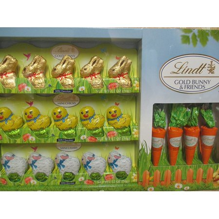 Lindt easter chocolate bunny and friends with carrots easter gift lindt easter chocolate bunny and friends with carrots easter gift candy basket exclusive novelty gift negle Choice Image