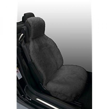 Eurow Genuine Australian Sheepskin Sideless Seat Cover - Gray