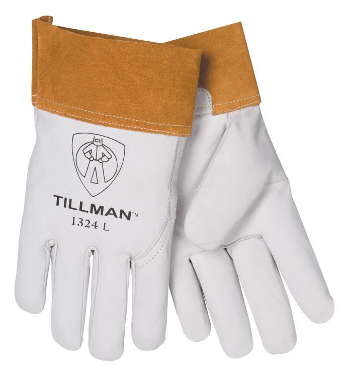 """Tillman 1324 Top Grain Goatskin TIG Welding Gloves 2"""" Cuff, Medium"""