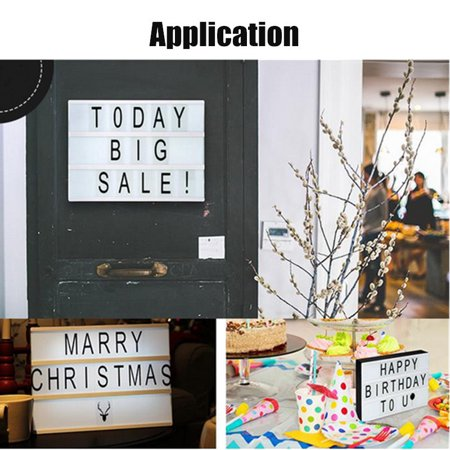 104 packs Black Home Decor Letters Sign for A4 MagiGlow Cinematic Cinema Light Up Letter Box Sign  Message Board - Message For Graduation