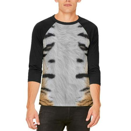 Halloween Tiger Costume Mens Raglan T Shirt - Tiger Halloween Makeup For Men