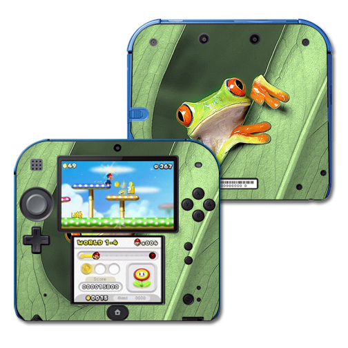 Mightyskins Protective Vinyl Skin Decal Cover for Nintendo 2DS wrap sticker skins Froggy