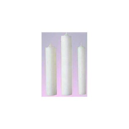 Candle-Altar Candle 15  x 1 1/8 -Stearic Molded Plain End (Pack Of -