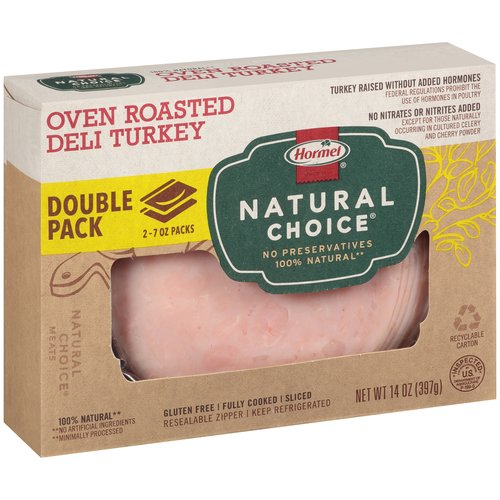 Hormel Natural Choice Oven Roasted Sliced Deli Turkey Lunchmeat, 14 oz