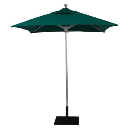 6 x 6 ft square commercial aluminum market umbrella for Patio table umbrella 6 foot