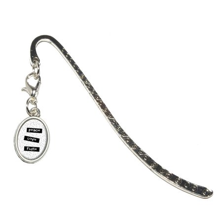 Oval Fluted (Peace Love Flute Oval Charm Metal)