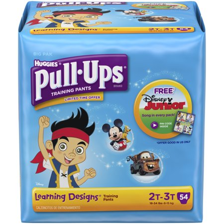 HUGGIES Pull-Ups Boys' Training Pants with Learning Designs, Big Pak, (Choose Your Size)