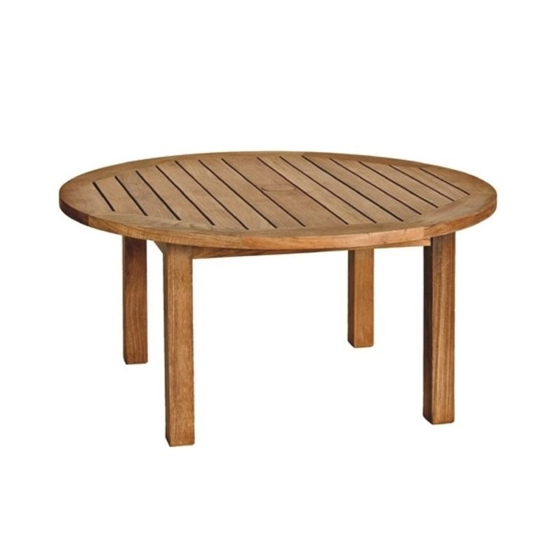 Canterbury Round Patio Coffee Table in Teak
