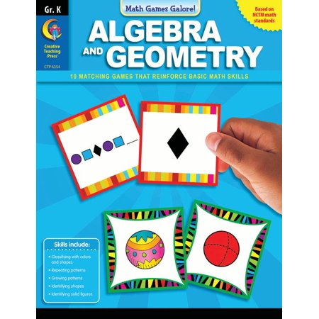 ALGEBRA AND GEOMETRY, GR.K - MATH GAMES