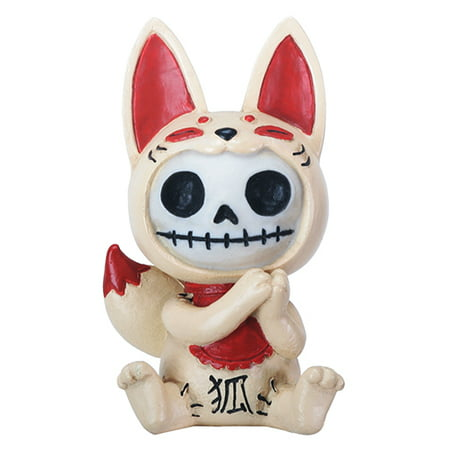 Furrybones Kitsune Skeleton in Japanese Fox Costume Halloween Figurine (Japanese Emoticons Halloween)