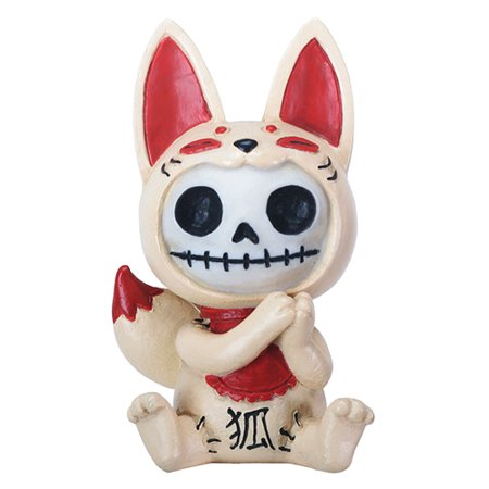 Furrybones Kitsune Skeleton in Japanese Fox Costume Halloween Figurine