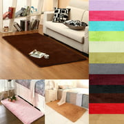 Fluffy Rectangle Floor Rug 23.62x47.2'' 13 colors Anti-skid Shaggy Area Rug Dining Room Carpet Yoga Bedroom Floor Mat / Cover Child Play Mat Parlor Bedroom Decor
