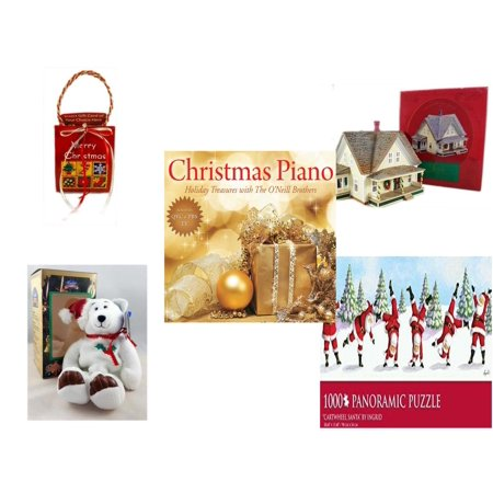 Christmas Fun Gift Bundle [5 Piece] - Musical Gift Card Holder - The Sarah Plain and Tall Collection Sarah's Prairie Home Hallmark 1994 -  Piano  Treasures with The O'Neill Brothers CD - Limited Tre](Outdoor Limited Coupon)