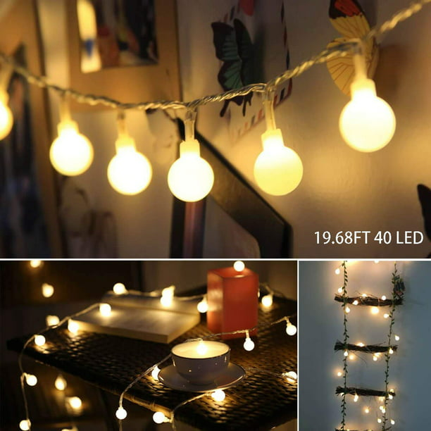 Led String Lights 19 68ft 40led Ball