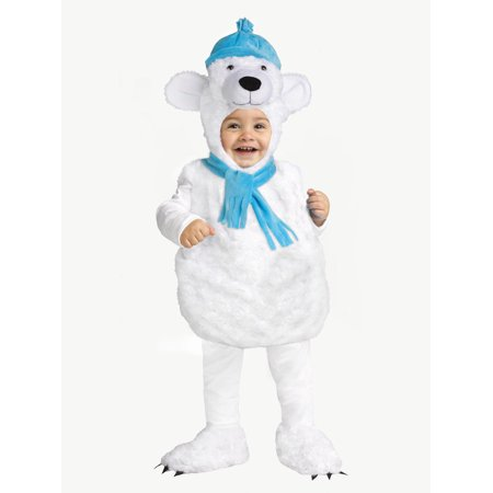 Polar Bear Toddler Costume - Size Toddler 2-4 (Halloween Tab)