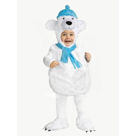 Polar Bear Toddler Costume - Size Toddler 2-4](Toddler Polar Bear Costume)