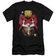 Judge Dredd - Dredds Head - Slim Fit Short Sleeve Shirt - XX-Large
