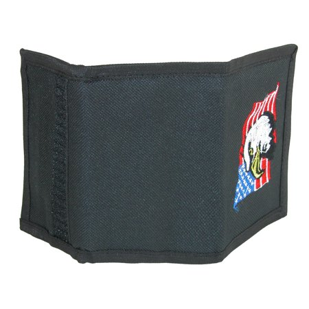 Parquet Men's Hook & Loop Trifold Wallet with American Flag & Eagle Embroidery - image 2 of 4