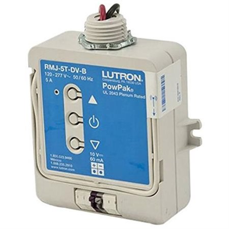 Lutron RMJS-8T-DV-B 120/277 Volt AC at 50/60 Hz Dimming Module Vive (Lutron Dimming Ballasts)