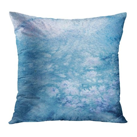 ECCOT Colorful Abstract Watercolor Blue Salt Marble Artistic Bright Brush Cold Color Pillow Case Pillow Cover 16x16 inch