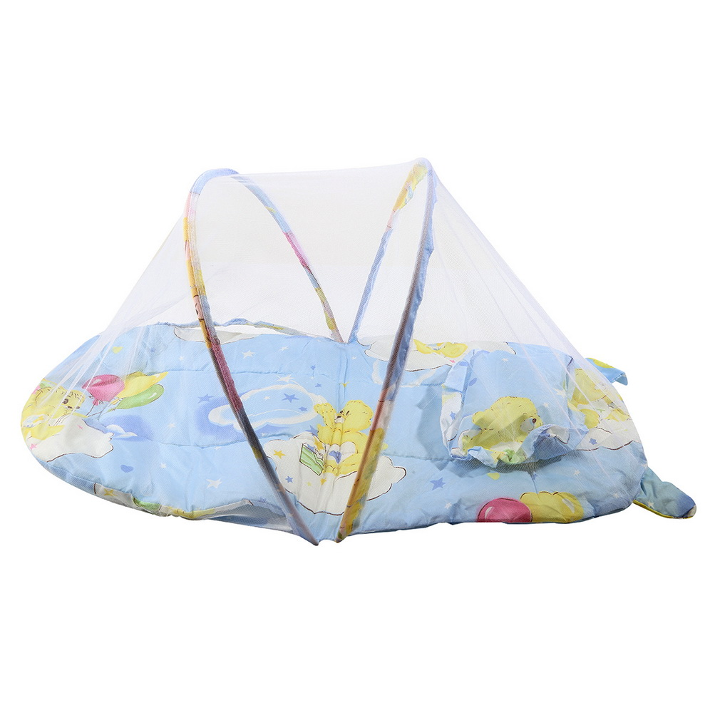 Foldable New Baby Cotton Padded Mattress Pillow Bed Mosquito Net ... for Folding Mosquito Net For Baby  587fsj