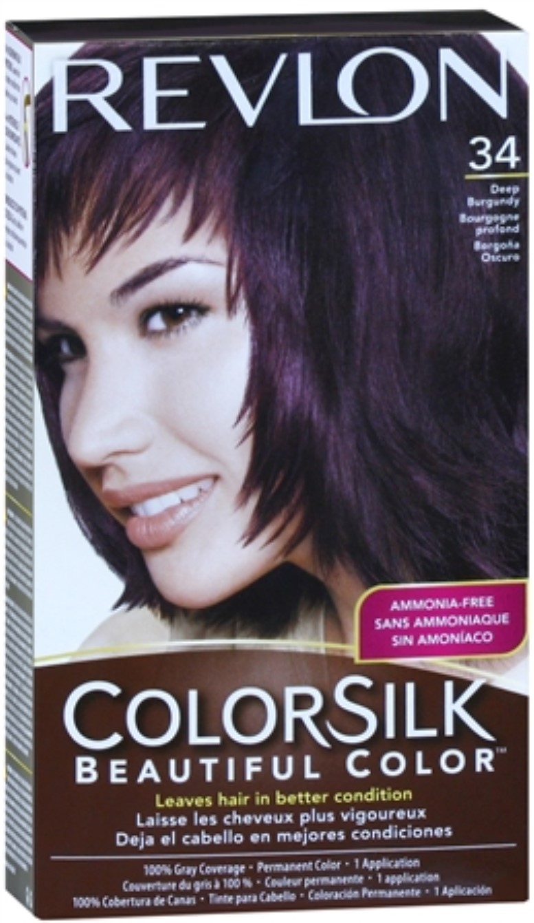 Revlon Colorsilk Hair Color 34 Deep Burgundy 1 Each Pack Of 4