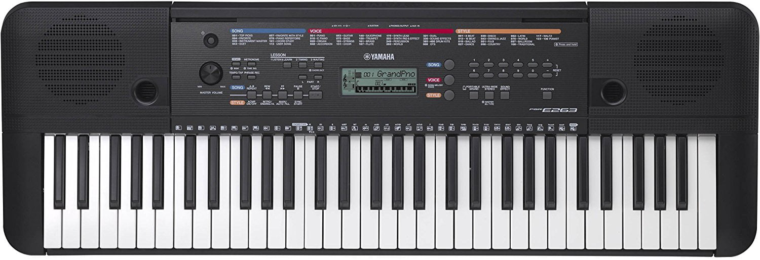 Yamaha PSRE263 61-Key Portable Keyboard by Yamaha