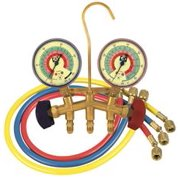Jb Industries M2 Series Brass 2-Valve Charging Manifold Assembly With 60-Inch Ccle Hoses For R-22, R-404A, And R-410A