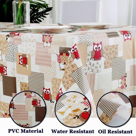 "Tablecloth PVC Rectangle Table Cover Oil Resistant Table Cloth 54"" x 71"", #4 - image 1 de 7"