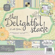 Diecuts With A View Delightful Paper Stack, 48pk