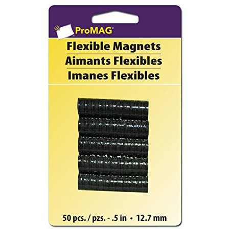 Promag Round Magnets (Flexible Round Magnets, 0.5-Inch, 50-Pack, Perfect for office and craft projects By ProMag )