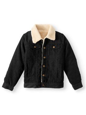Bocini Fashion Corduroy Trucker Jacket with Sherpa Lining (Little Boys & Big Boys)