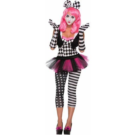Adult's Womens Sexy Harlequin Clown Opera Elbow Gloves Costume Accessory