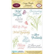 """JustRite Papercraft Clear Stamps 4""""X6""""-Caring Thoughts"""
