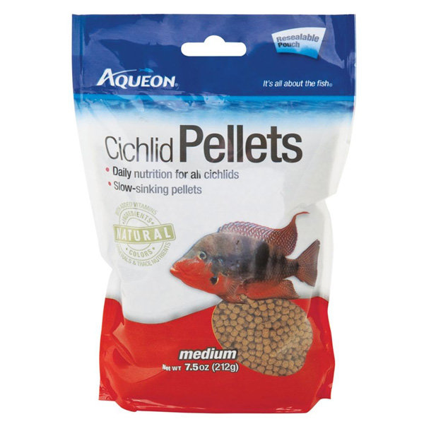 AQUEON - Cichlid Pellets Resealable Pouch Medium - 7.5 oz. (212 g)