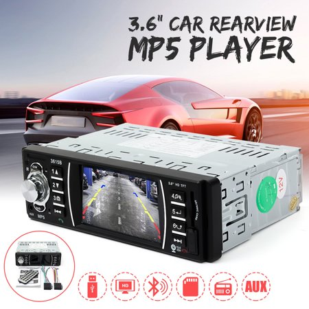 Car MP5 Player Car Radio Stereo 3.6 Inch HD with Reverse Camera Mirror Link Universal bluetooth USB MP3 MP4 FM Audio SD AUX Vehicle