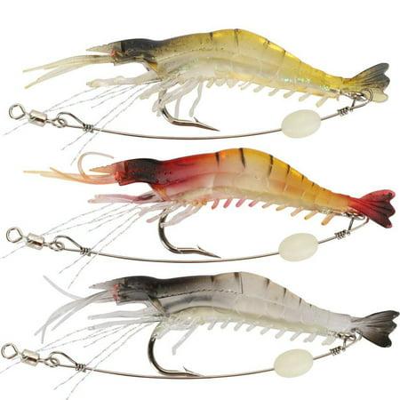 Soft Lures Shrimp Bait Set Kit Fishing Lures Baits Tackle Set Random Color