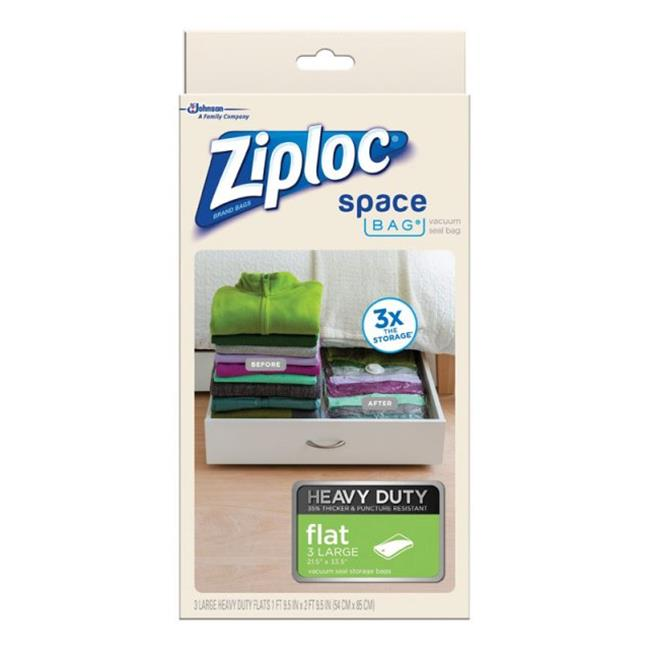 Ziploc Large Space Bag Vacuum Seal Bags, 3-Piece