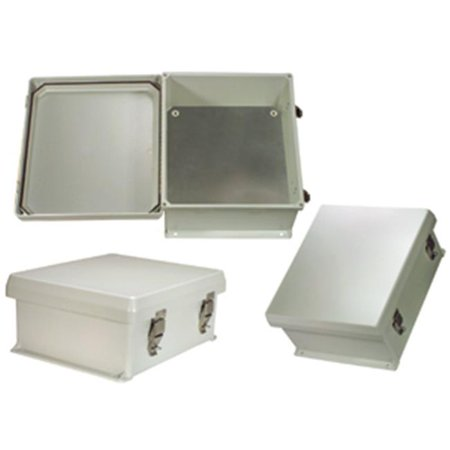 Hana Wireless HW-N12-KIT 12 x 10 x 5 in. Weatherproof NEMA 4X Enclosure With Blank Aluminum Mounting Plate