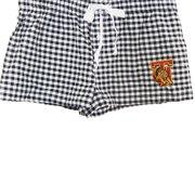Women's Tuskegee University Mascot 100% Cotton Lounge Sleep Pants Pajamas and Shorts - Boxer Shorts - Short Shorts (Large, Checked Shorts)