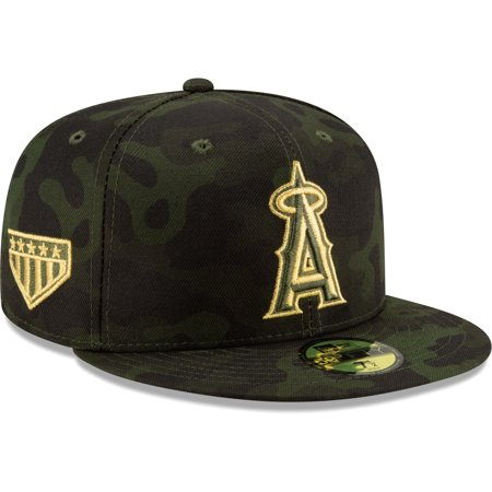best service c4da2 be56d Los Angeles Angels New Era 2019 MLB Armed Forces Day On-Field 59FIFTY  Fitted Hat - Camo