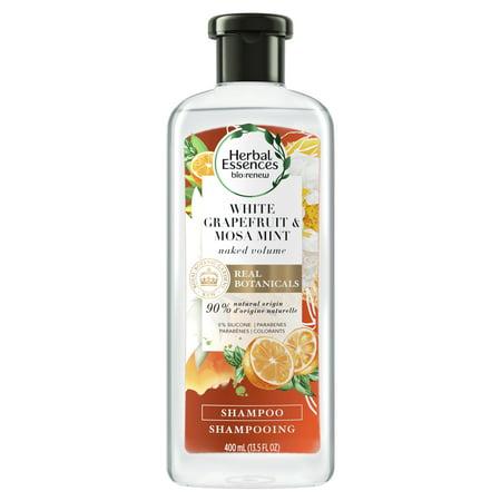 - Herbal Essences bio:renew White Grapefruit & Mosa Mint Naked Volume Shampoo, 13.5 fl oz