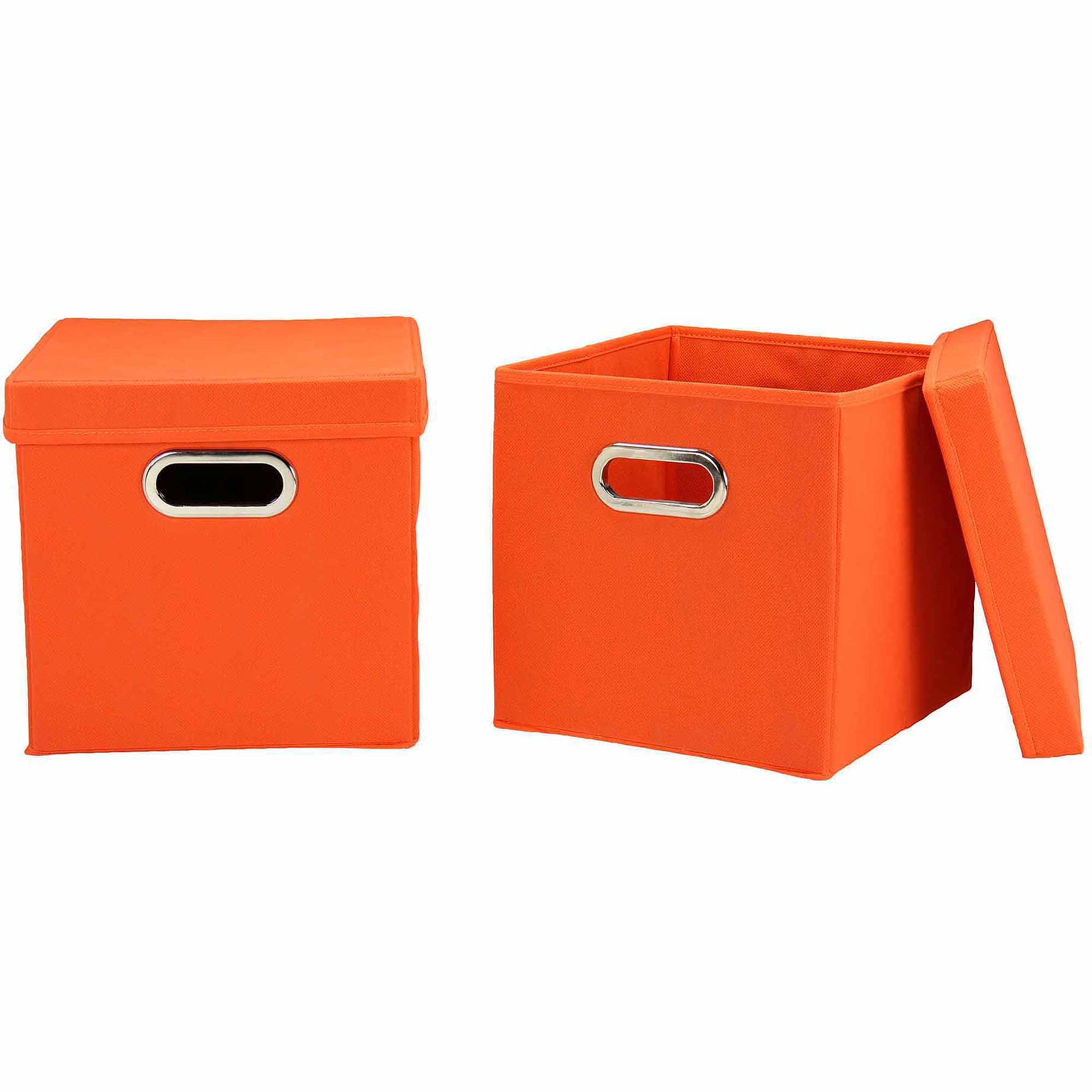 Household Essentials Orange Cube Set with Lids, 2pk