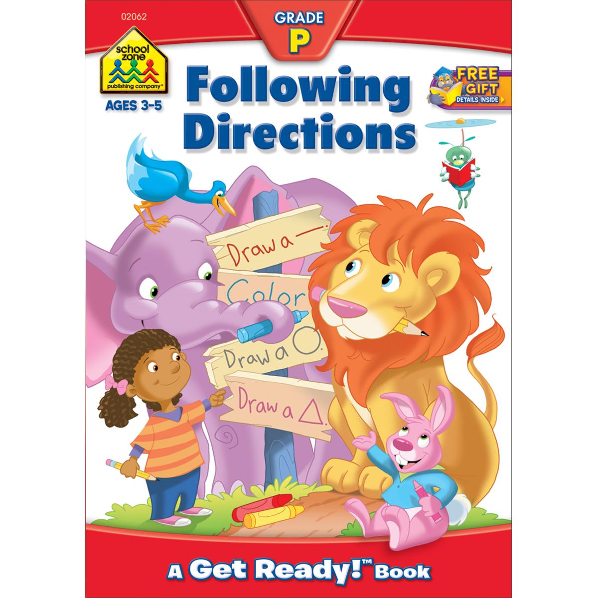 Preschool Workbooks-Following Directions Ages 3-5