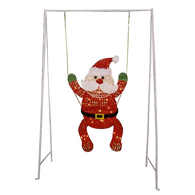NorthLight 50 in. Swinging Baby Santa Claus Lighted Chris...