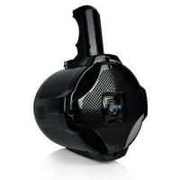 Lanzar AQAWBS64BK - 6.5'' Bluetooth Wakeboard Speaker, Active-Powered Marine Tower Speaker, 2-Way Water Resistant, 1000 Watt (Black)